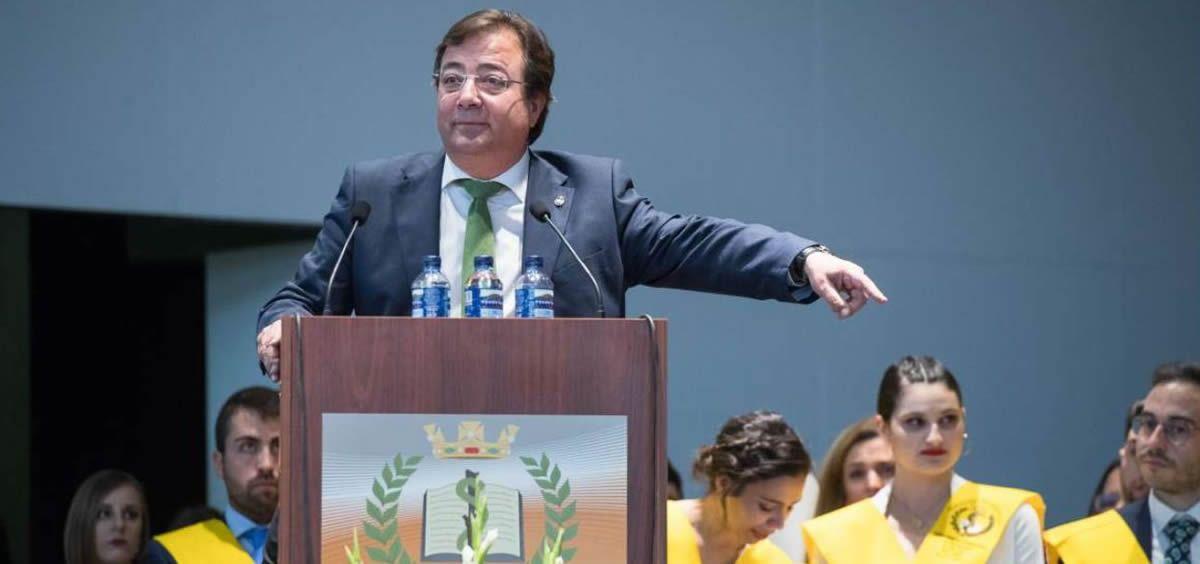 El presidente de la Junta de Extremadura, Guillermo Fernández Vara