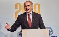 Enrique Ruiz Escudero, consejero de Sanidad de la Comunidad de Madrid, durante la entrega de premios ConSalud 2019 Foto: Miguel Ángel Escobar