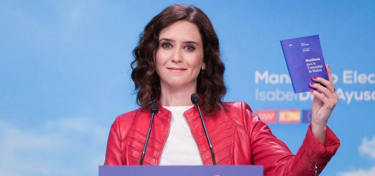 Isabel Díaz Ayuso, candidata del PP a presidir la Comunidad de Madrid.