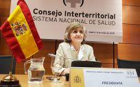 La ministra de Sanidad en funciones, María Luisa Carcedo, preside el pleno del Consejo Interterritorial.