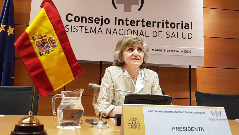 La ministra de Sanidad en funciones, María Luisa Carcedo, preside el pleno del Consejo Interterritorial (Foto: ConSalud.es)