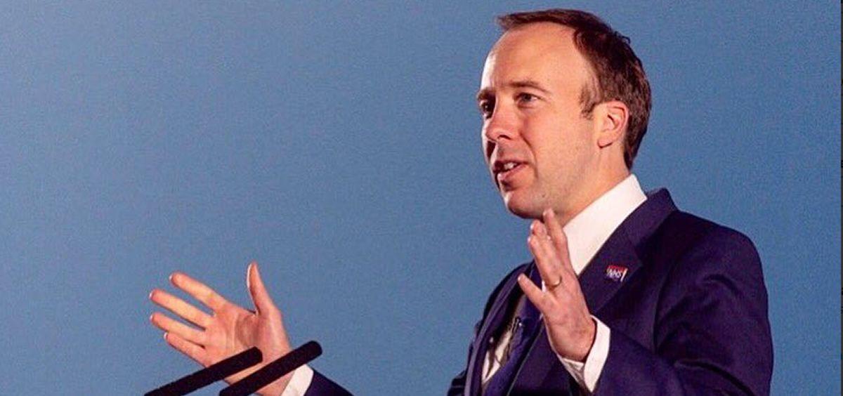 El secretario de Salud de Reino Unido, Matt Hancock