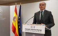 Enrique Ruiz Escudero, consejero de Sanidad de la Comunidad de Madrid, durante un Consejo Interterritorial (Foto: ConSalud).