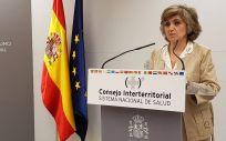 María Luisa Carcedo, ministra de Sanidad en funciones, en rueda de prensa tras el Consejo Interterritorial (Foto ConSalud.es)