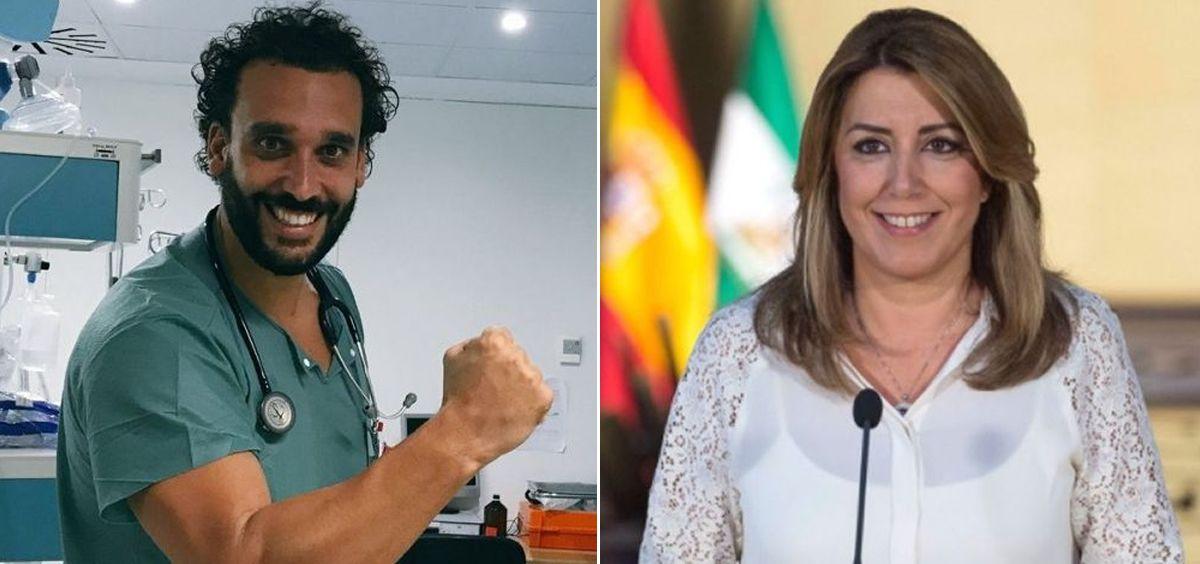 El doctor Jesús Candel y Susana Díaz