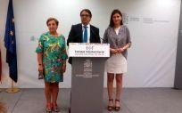 De izq. a drcha.: María Luisa Real, José María Vergeles y Carmen Montón.