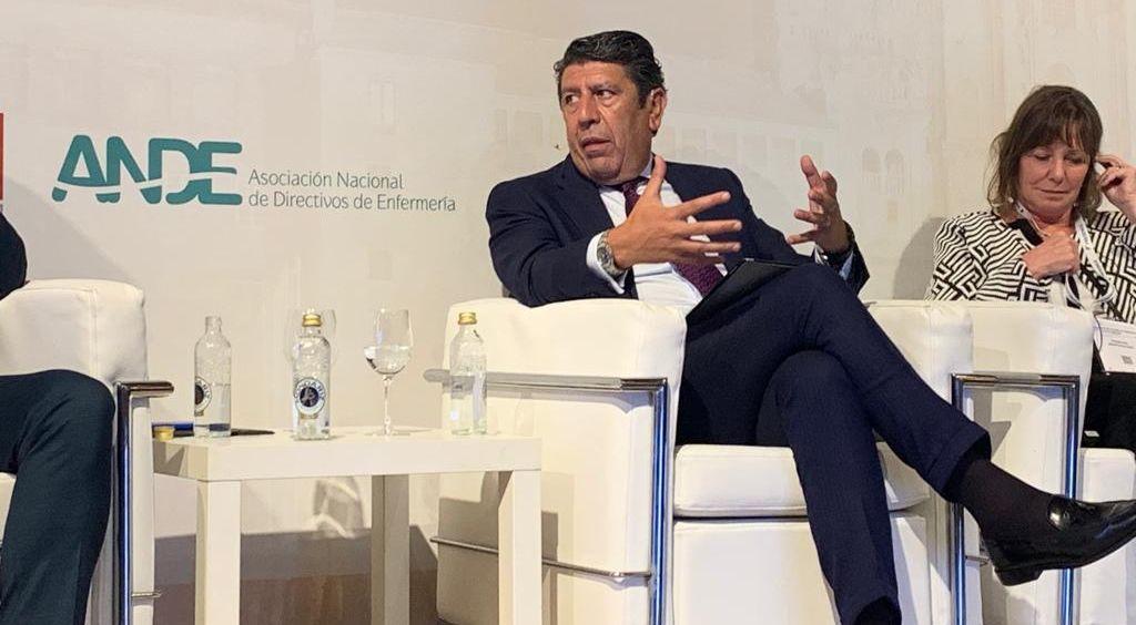 El director general de la Fundación IDIS, Manuel Vilches, durante su intervención en el 21 Congreso Nacional de Hospitales y Gestión Sanitaria