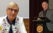 Ana Barceló y Joan Ribó, consejera de Sanidad de la Comunidad Valenciana y alcalde de Valencia