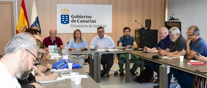 Imagen de la Mesa Sectorial de Sanidad de Canarias