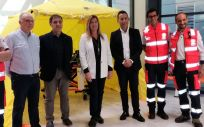 La consejera de Salud de las Islas Baleares, Patricia Gómez, en el centro de la imagen
