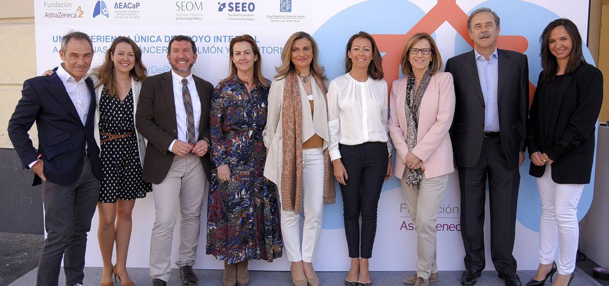 La Fundación AstraZeneca ha presentado en el Palacio de la Prensa de Madrid,  Convivir, un proyecto de apoyo integral al paciente de cáncer de pulmón.