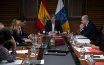 Fernando Clavijo presidiendo el Consejo de Gobierno
