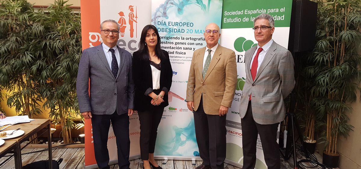 Diego Bellido (SEEDO), Ana Belén Crujeiras (SEEDO), Felipe de la Cruz (SECO) y Andrés Sánchez (SECO)