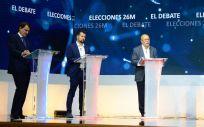 De izq. a der.: Alfonso Fernández (PP), Luis Tudanca (PSOE), Francisco Igea (Ciudadanos) y Pablo Fernández (Podemos-Equo).