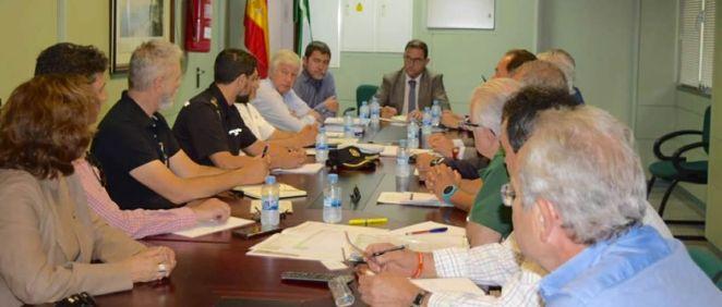 Imagen de la reunión de la comisión provincial contra las agresiones a profesionales sanitarios.