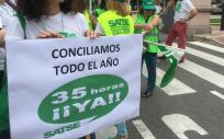 Protestas de los profesionales de Enfermería a favor de la implantación de la jornada de 35 horas en Castilla y León