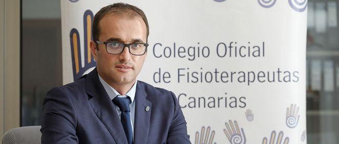 El presidente del Colegio Oficial de Fisioterapeutas de Canarias (COFC), Santiago Sánchez