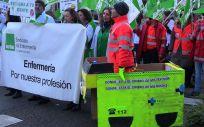 Protestas de los profesionales de Emergencias en Castilla y León
