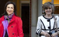 Margarita Robles, ministra de Defensa, y María Luisa Carcedo, ministra de Sanidad.